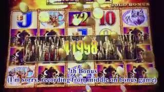 Until get the Jackpot!•Buffalo Gold Slot Bet$3 and Max Bet$6 Huge Win Handpay Harrah's CA.