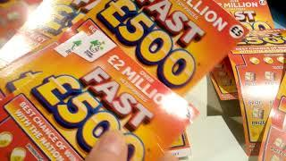 •The 2nd FAST £500's•Scratchcard game•(It's the FAST £500's.•WEEK)