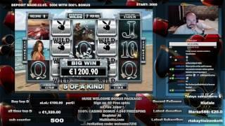 Playboy Slot Gives Big Win During FreeSpins!!
