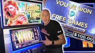 • HUGE BONUS WIN! • High Limit Temple Tiger •9 Free Games Jackpot! | The Big Jackpot