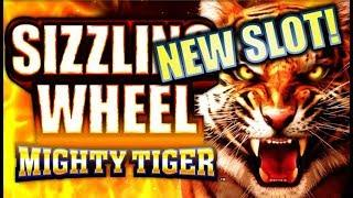 •$300 ARUZE SLOT CHALLENGE! • • SIZZLING WHEEL MIGHTY TIGER Slot Machine Bonus (PART 3 OF 3)