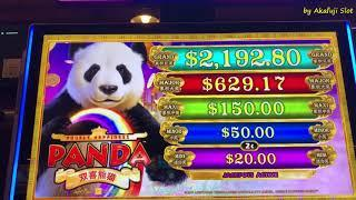 "New Slot ""PANDA"" and ""PYRAMID Progressives"" First Attempt, Barona Casino, Akafujislot, カルフォルニアカジノ"