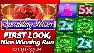 Sparkling Roses Slot - First Look, Nice Winning Run with Live Play, Line Hits and Bonuses