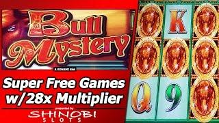 Bull Mystery Slot - Super Free Games, Big Win with 28x Multiplier!