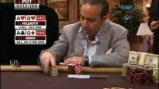 View On Poker - Phil Hellmuth Beats Sam Farha When They Both Hold AQ!