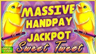 MASSIVE JACKPOT HANDPAY ON HIGH LIMIT Drop & Lock Sweet Tweet⋆ Slots ⋆$50 MAX BET Bonus Round Slot M