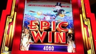 EPIC MONOPOLY | WMS - EPIC WIN! 10 Rolls w. X3 Multiplier | Slot Machine Bonus