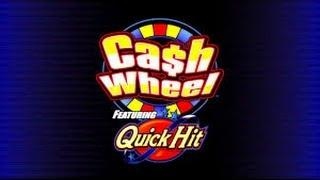 Cash Wheel ft Quick Hit MAX BET Free Spins - Bally Slot Bonus Win