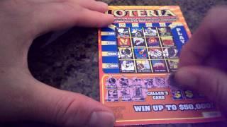 NEW $3 LOTERIA SCRATCH OFF TICKET FROM HOOSIER LOTTERY. SCRATCH OFF WINNER