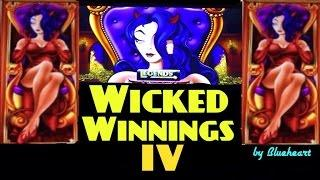 WICKED WINNINGS IV slot machine Wicked Feature and Bonus WIN! (5cent)