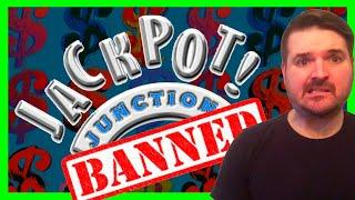 BANNED INDEFINITELY?! Jackpot Junction Casino Gets Mad At SDGuy1234 For WINNING And Bans Him!