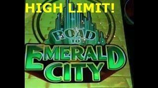 $15 bet LIVE PLAY Bonus  BIG WINS HIGH LIMIT Wizard of Oz Road to Emerald City slot machine WMS