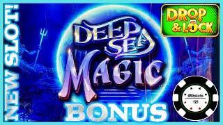 •NEW SLOT Drop & Lock Deep Sea Magic •HIGH LIMIT $15 BONUS ROUND LOCK IT LINK SLOT MACHINE CASINO •