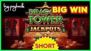 SHOCKING PROGRESSIVE! Dragon Tower Jackpots Purple Storm Slot! #Shorts