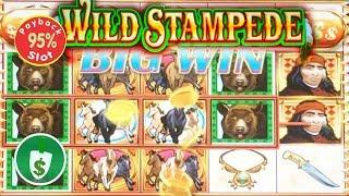 Wild Stampede 95% payback slot machine, 2 sessions