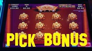 Winning Animals Live Play max bet $6.80 PICK BONUS Konami Slot Machine