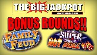 BONUS ROUNDS on • FAMILY FEUD & HOT ROLL DICE •