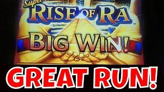 GREAT RUN on SUPER RISE OF RA!  MAX BET!