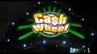 Cash Wheel Slot Machine Bonus- 5 dollar denomination-Bally