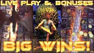 Big Wins!!! LIVE PLAY and Bonuses on Game of Thrones Slot Machine