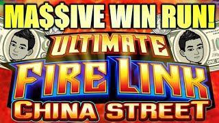MASSIVE WIN RUN! TAX-FREE!? ⋆ Slots ⋆ $5-10/SPINS ULTIMATE FIRE LINK CHINA STREET Slot Machine (SG)