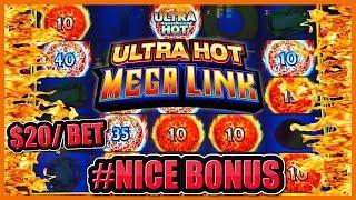 HIGH LIMIT Ultra Hot Mega Link INDIA ⋆ Slots ⋆$20 Bonus Round Slot Machine Casino NICE WINNING SESSI