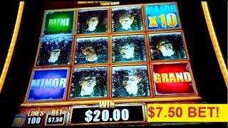 The Walking Dead 2 Slot Machine $7.50 Max Bet Jackpot Bonus *LIVE PLAY* Feature!
