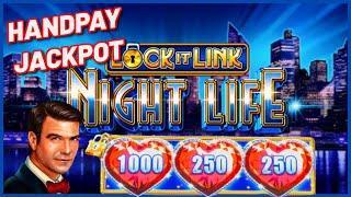 HIGH LIMIT Lock It Link Night Life HANDPAY JACKPOT ⋆ Slots ⋆$50 Bonus Round Slot Machine Casino