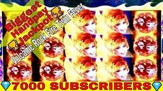 Volcanic Rock Fire Twin Fever Slot Machine •BIGGEST HANDPAY JACKPOT•On YouTube ! •MASSIVE HANDPAY•