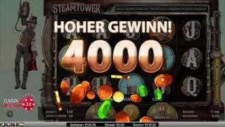 SUPER BIG WIN on Steam Tower Slot - 3€ BET!