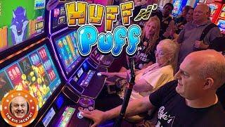 $3,000 Huff N' Puff! •120 Spins to Win BIG!