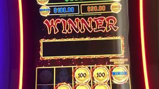 DRAGON LINK HOLD and SPIN WIN at the LAS VEGAS Airport!  Sizzling Slot Jackpots CASINO Bonus Videos