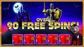 • OVER 90 Free Spins !!! + FIVE Hearts on Ooh Ah Dracula! •