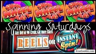 Super Wheel Blast N' More! • SPINNING SATURDAYS • EVERY SATURDAY Slot Machine Pokies
