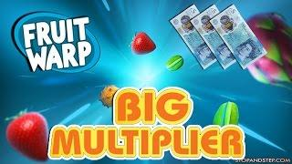Fruit Warp £5 Spins BIG MULTIPLIERS!!
