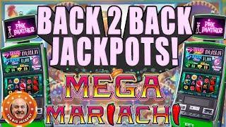 •️ MEGA MARIACHI JACKPOT$! •️Back To Back WINS on Pink Panther Slots!