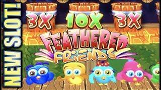 •NEW SLOT! FEATHERED FRIENDS• 1ST ATTEMPT! CUTEST SLOT OF THE YEAR? Slot Machine Bonus Win (SG)