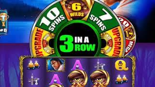 "CALL OF THE MOON Video Slot Casino Game with a ""BIG WIN"" WHEEL BONUS"