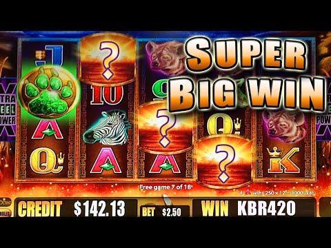 SUPER BIG WIN on a NON-SUPER FEATURE SUNSET KING BONUS SLOT MACHINE - Aristocrat Slots