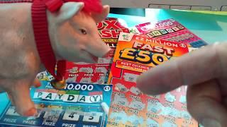 Scratchcards...9x LUCKY...PAYDAY...FAST 500...20x CASH....CASH WORD ..LUCKY LINES