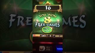 FU-DAO-LE Progressive 8 Line HIGH LIMIT Quarter Slot Machine FREE SPINS Bonus