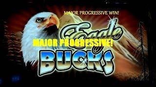 JACKPOT MEGA HANDPAY AINSWORTH EAGLE BUCKS Slot Machine MAJOR PROGRESSIVE WIN!