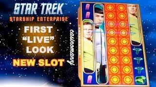 "NEW! - Star Trek Enterprise Slot - First ""LIVE"" Look - Slot Machine Bonus - WMS"