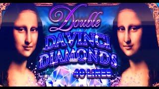 Double DaVinci Diamonds •LIVE PLAY w/Bonus• Slot Machine Pokie in Las Vegas