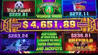 GOOD FORTUNE ~ CELESTIAL MOON RICHES ~ WONDER 4 ~ Live Slot Play @ San Manuel