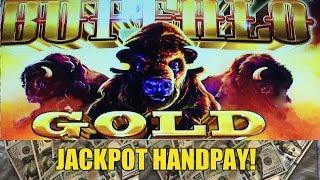 JACKPOT HANDPAY! BUFFALO GOLD SLOT MACHINE-LIVE PLAY