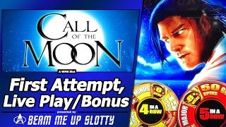 Call Of The Moon Slot - First Attempt, Live Play, Added Wilds and Free Spins Bonus