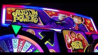 Austin Powers SLOT MACHINE •LIVE PLAY• Cosmo in Las Vegas
