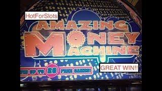 Aristocrat AMAZING MONEY MACHINE Being AMAZING & POMPEII DELUXE Slot Bonuses