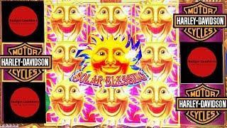 SOLAR BLESSINGS ~ Little Goldie ~ Buffalo ~ & HARLEY DAVIDSON Bonus ~ Live Slot Play @ San Manuel